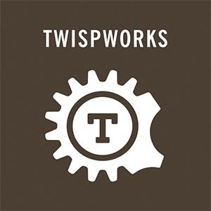 TwispWorks_Brown_Gear_Logo