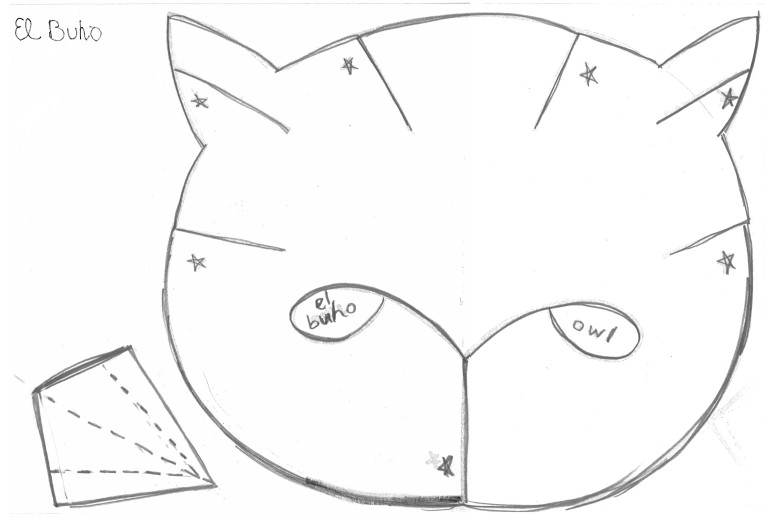 El Buho the Owl mask template