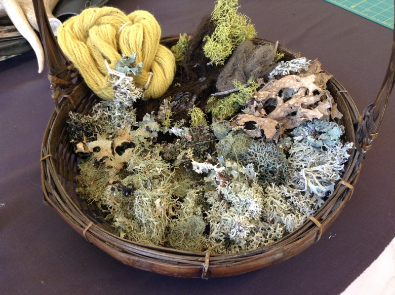 Basket of Lichens_Dyed Yarn