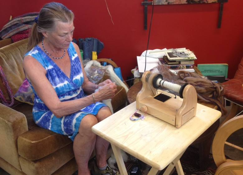 Spinning at Twisted Knitters