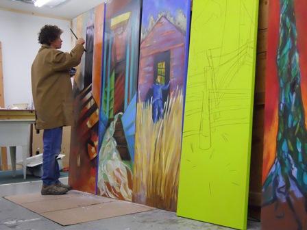 Donna Keyser in her studio