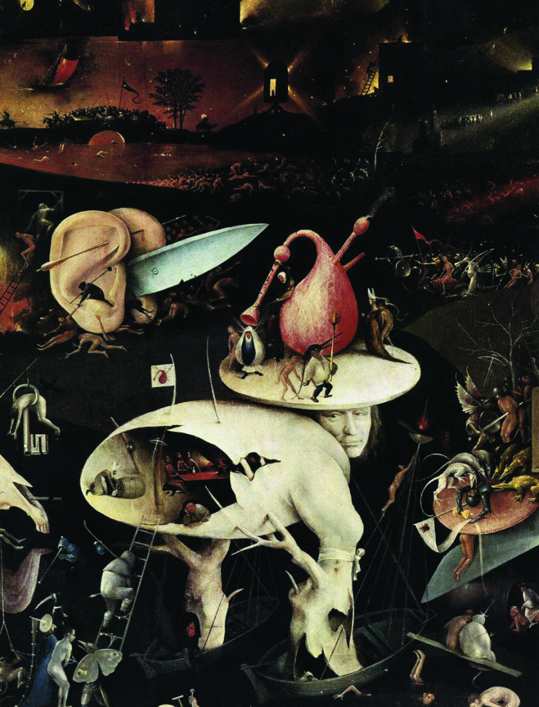 Hieronymus Bosch, Garden of Earthly Delights, c. 1500, Detail Gary Faigin Lecture