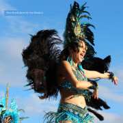 Brazilian Dancers with headress