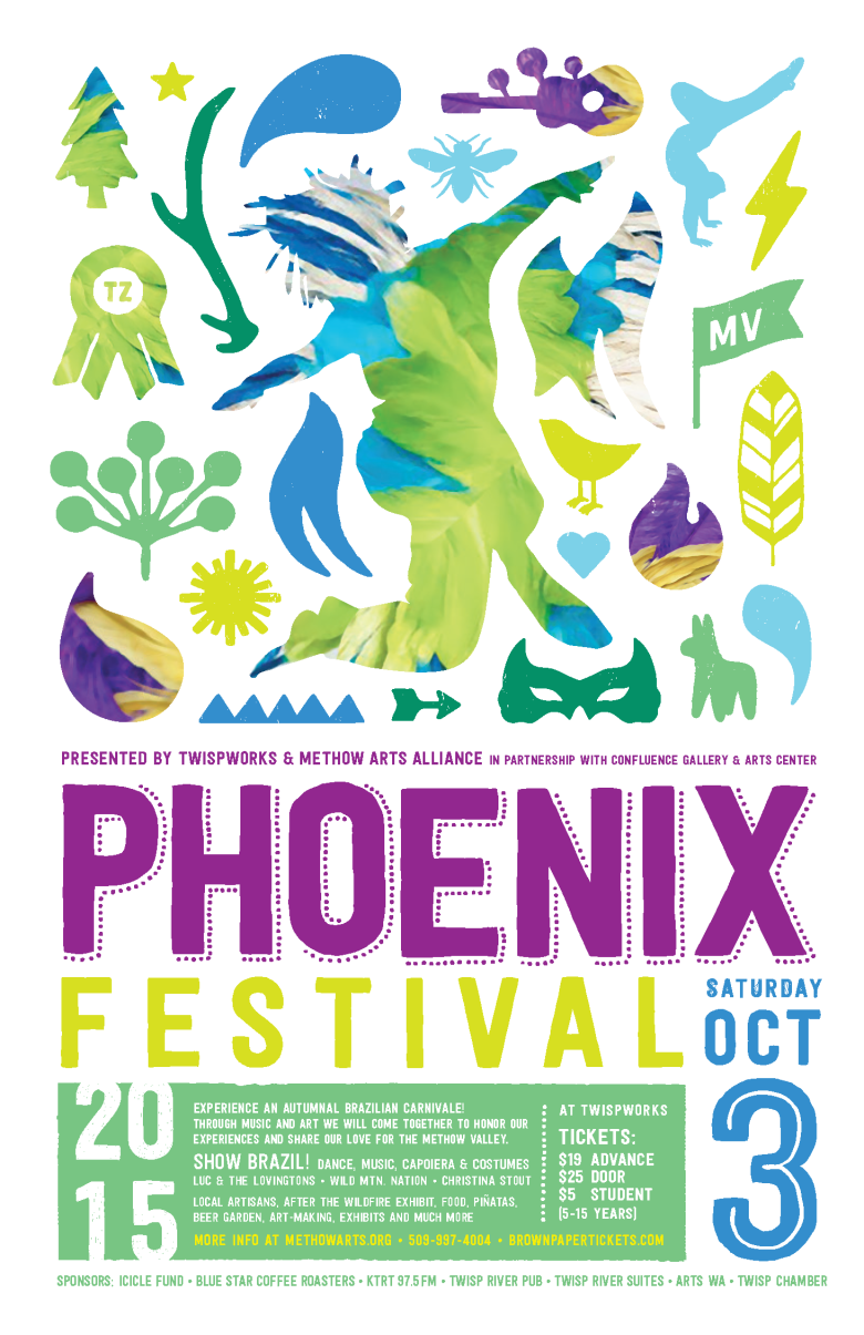 NEW Phoenix Festival Poster with new sponsors