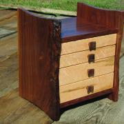 WG.Walnut Jewelry Cabinet by Cliff Schwab