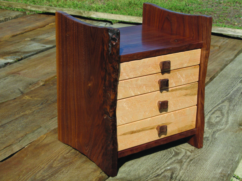 WG.Walnut Jewelry Cabinet by Cliff Schwab